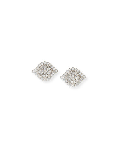 Scalloped Aladdin Diamond Stud Earrings