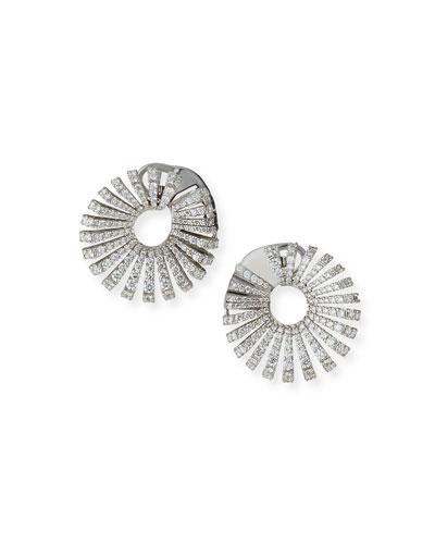 Ventaglio 18k White Gold Round Diamond Earrings