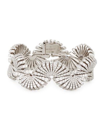 Ventaglio 18k White Gold Diamond Bracelet