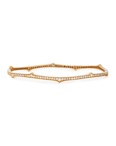 Ivy Thorn 18k Rose Gold Diamond Bangle
