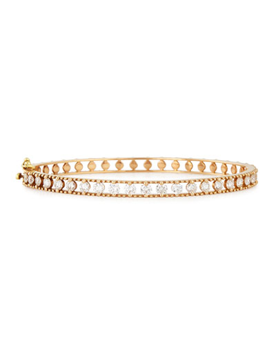 18k Rose Gold Bangle with Diamonds