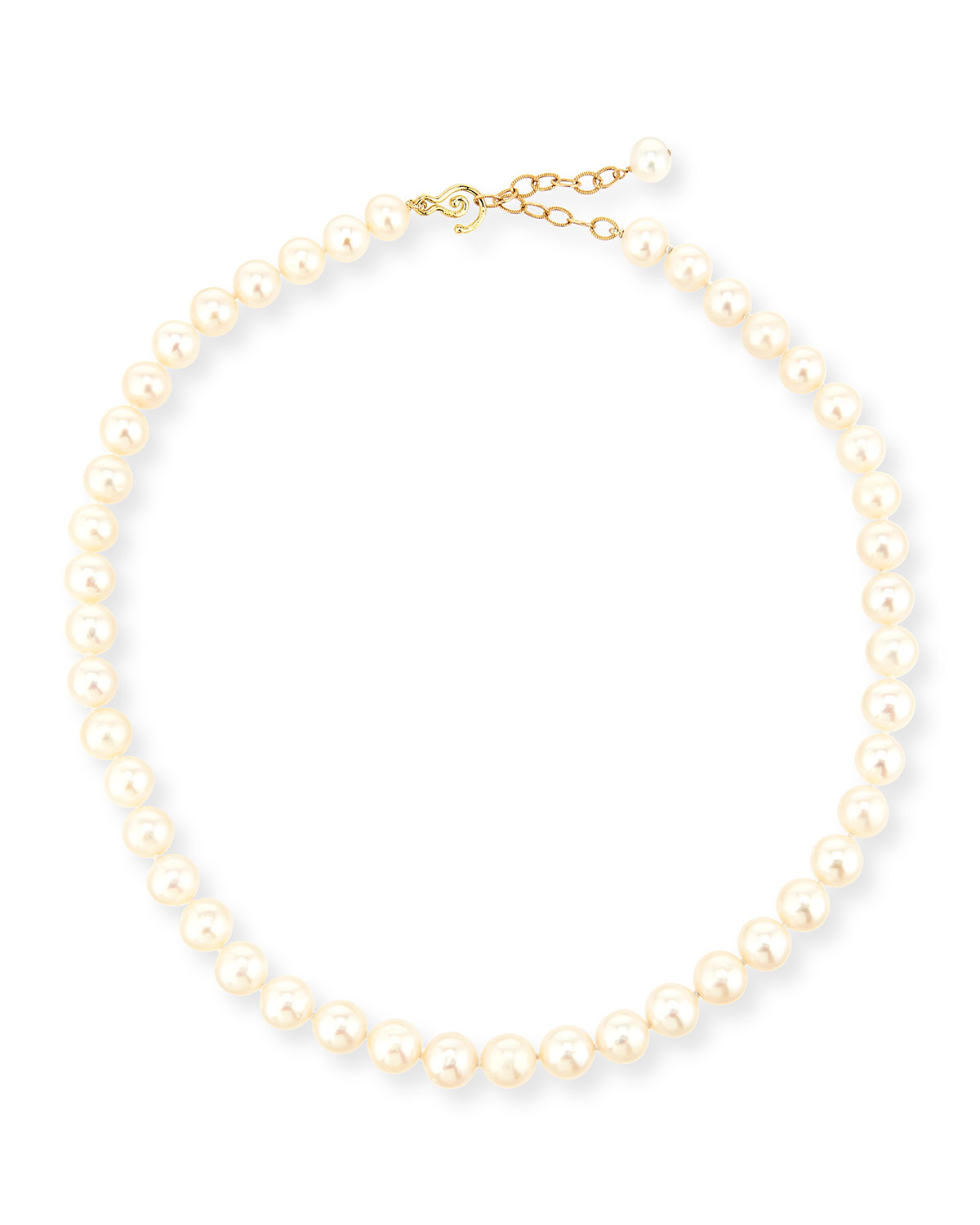 10mm Freshwater Pearl Necklace, 17