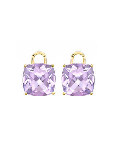 Eternal 18k Yellow Gold Amethyst Earring Drops