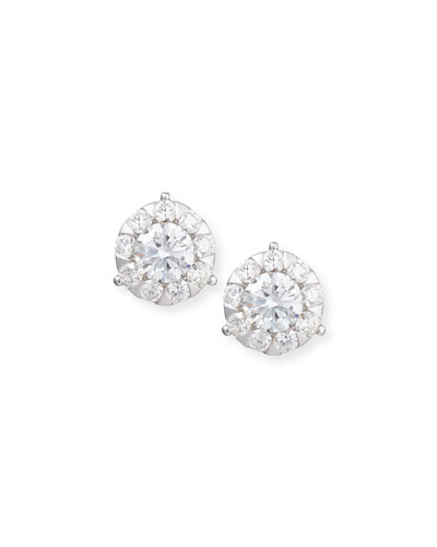 Bouquet 18k White Gold Diamond Stud Earrings