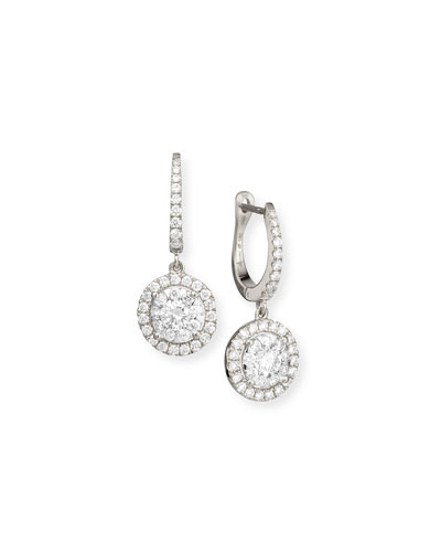 Bouquet 18k White Gold Diamond Dangle Earrings