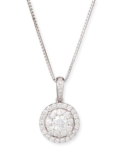 Bouquet 18k White Gold Diamond Pendant Necklace