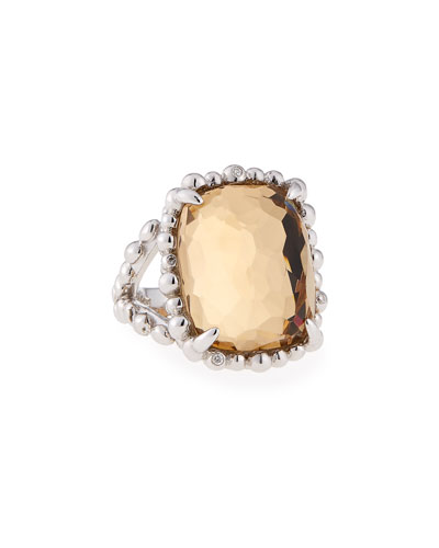 Molten 18k Doublet Large Rectangle Ring, Size 7