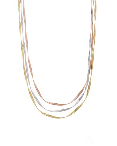 Marrakech Supreme Tricolor Three-Strand Necklace, 31.5