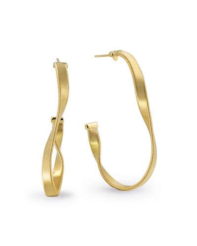 Marrakech Supreme 18k Twisted Hoop Earrings