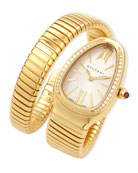 35mm Serpenti Tubogas Yellow Gold Diamond Watch