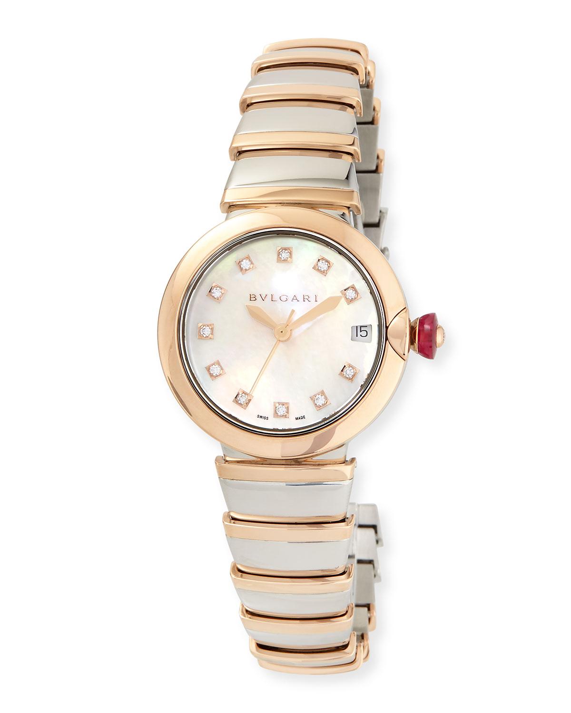 33mm LVCEA Watch with Diamonds