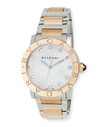37mm BVLGARI BVLGARI Watch with Diamonds