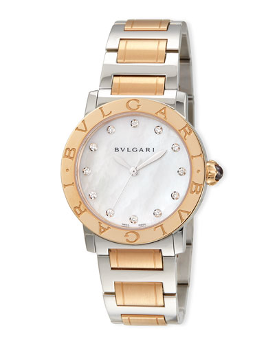 33mm BVLGARI BVLGARI Watch with Diamonds