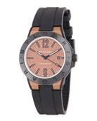 41mm Diagono Magnesium Watch, Coral/Black