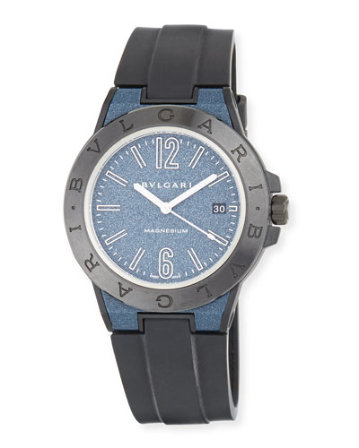 41mm Ceramic Diagono Magnesium Watch, Blue/Black