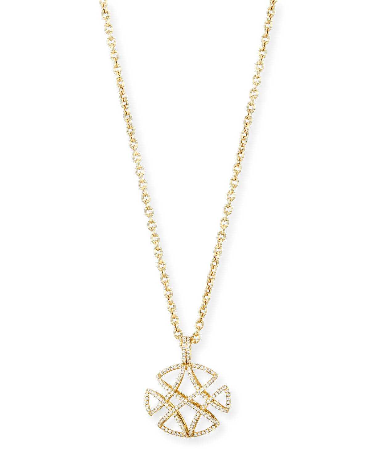 "GOSHWARA FREEDOM PAVÉ DIAMOND PENDANT NECKLACE, 30""L"