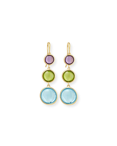 Mischief 18K Gold Cabochon Drop Earrings