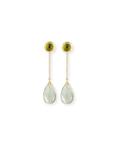 Naughty 18K Gold Prasiolite Drop Earrings