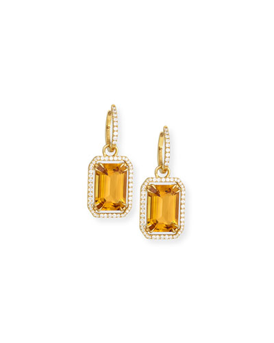Gossip 18K Gold Citrine Drop Earrings