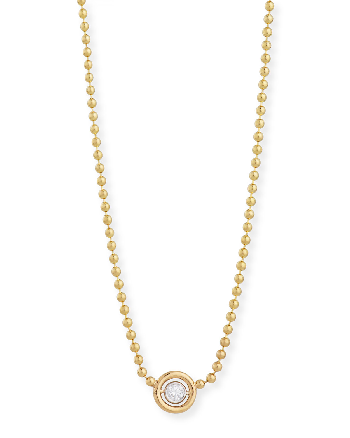 RINA LIMOR Diamond Bezel Pendant Necklace