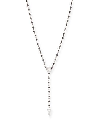 Twilight Black & White Diamond Y Necklace