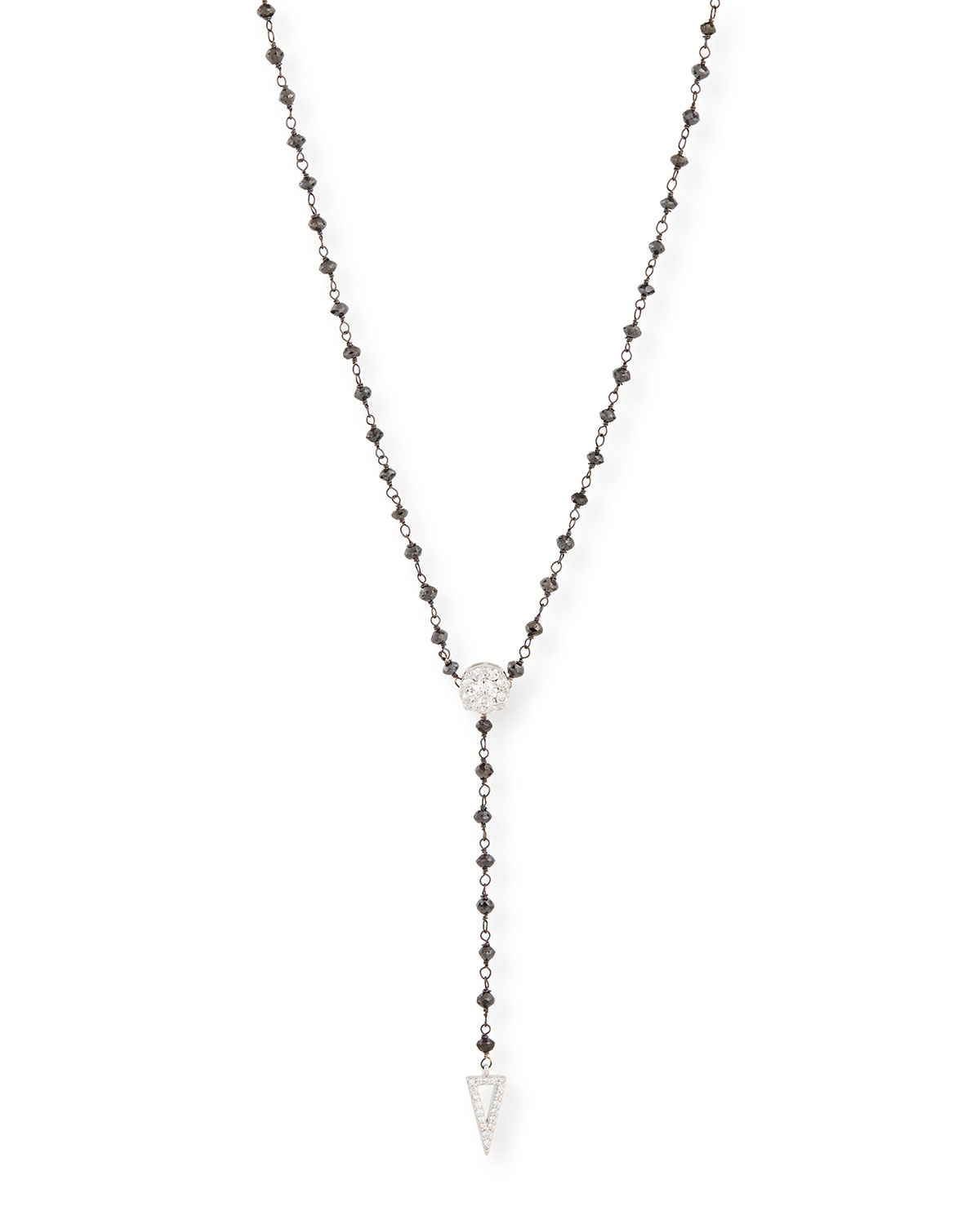 RINA LIMOR Twilight Black & White Diamond Y Necklace