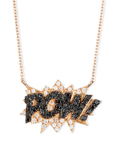 18K Rose-Gold Pow! Pop Art Pendant Necklace