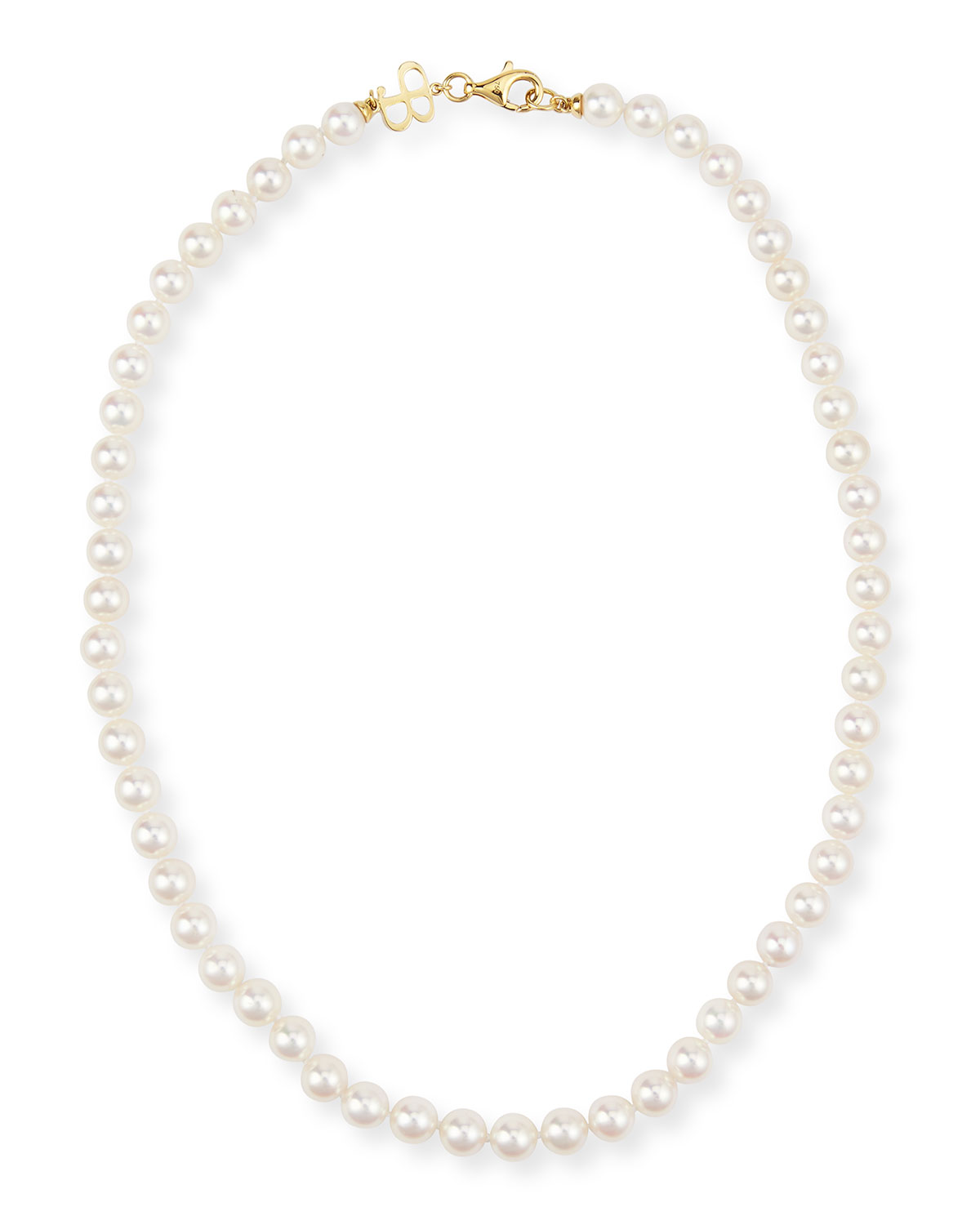 Single-Strand Akoya Pearl Necklace, 18