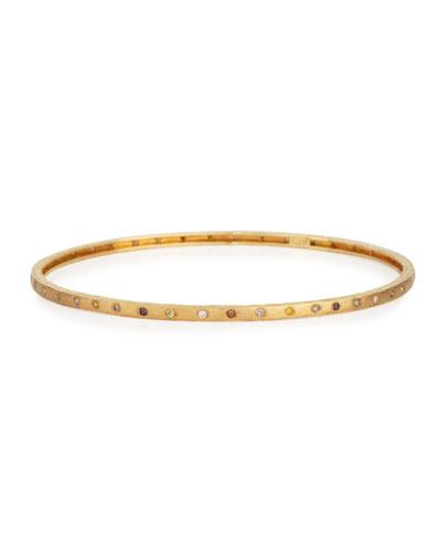 18K Gold Multicolor Diamond Bangle