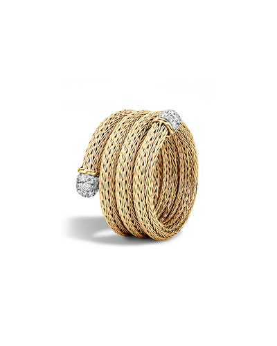 Classic Chain Multi-Row Coil Ring, Size 7