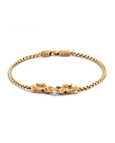 Naga 18K Gold Box Chain Bracelet