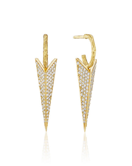 Mimi So Wonderland Pave Diamond Stinger Drop Earrings