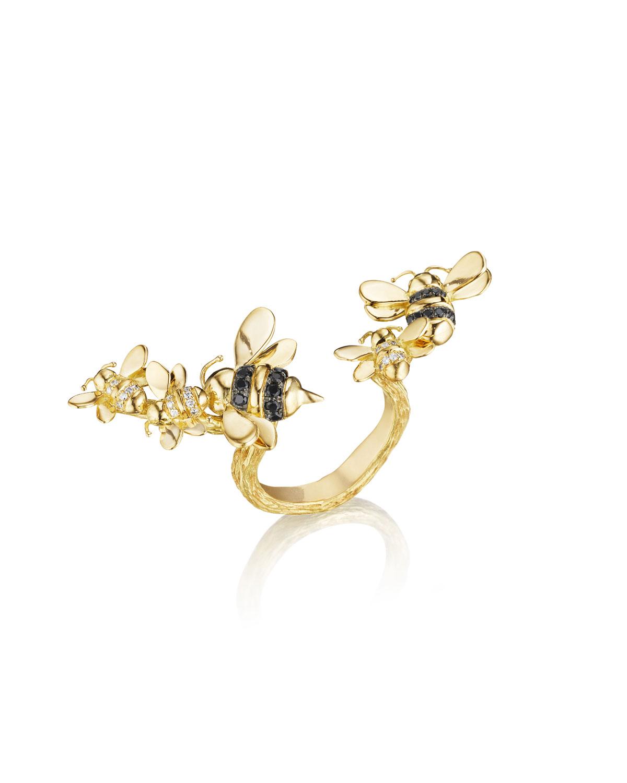 MIMI SO Wonderland 18K Gold Open-Shank Bee Ring, Size 6