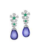 Wonderland Tanzanite Flower Drop Earrings