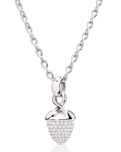 Mikado Bouquet 18K White Gold Pavé Diamond Pendant