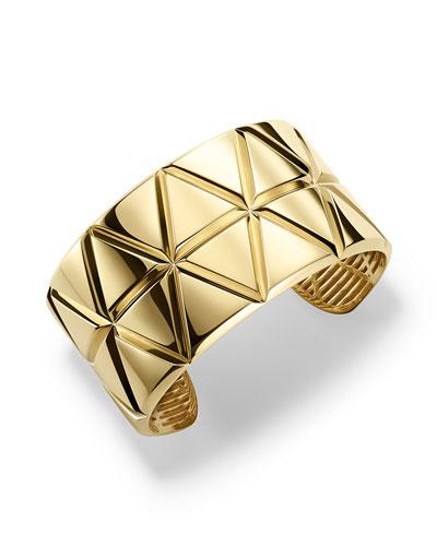 18K Yellow Gold Triangoli Cuff Bracelet