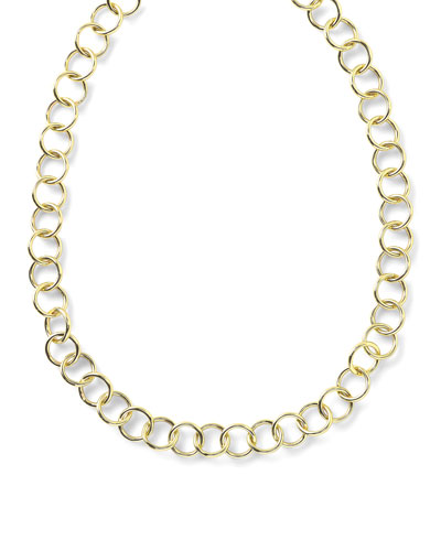 18K Glamazon Round Link Necklace, 17