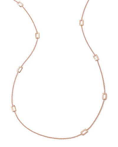 18K Rose Gold Glamazon Windowpane Necklace, 40