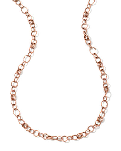 18K Rose Gold Glamazon Classic Link Chain Necklace, 33
