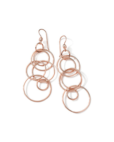 Jet Set 18k Rose Gold Earrings