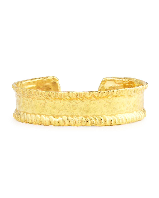 22K Yellow Gold Simple Cuff Bracelet