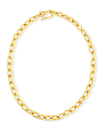 JEAN MAHIE Cadene 20 22K Yellow Gold Chain Necklace, 16""