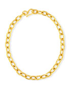 Cadene 25 22K Yellow Gold Link Necklace, 17""