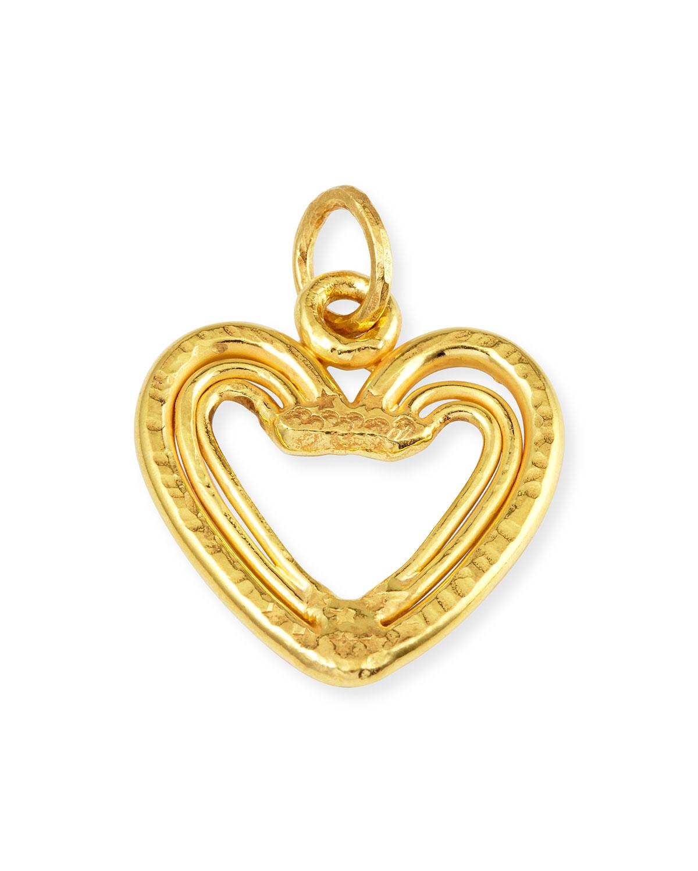 22K Yellow Gold Heart Trio Pendant