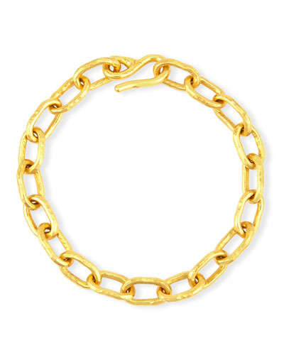 Cadene 20 22K Yellow Gold Thin Link Bracelet