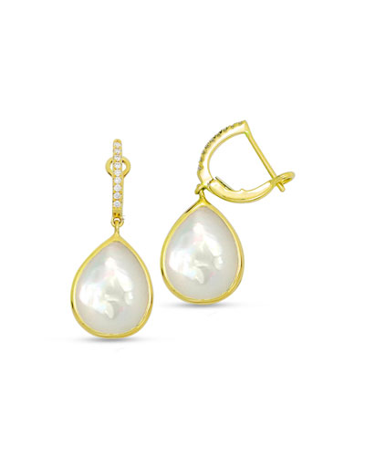 18K Mother-of-Pearl Earrings