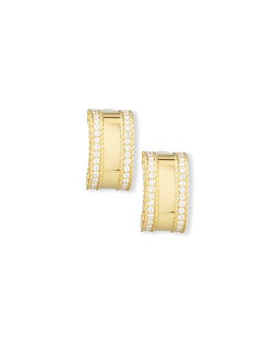 Princess 18K Yellow Gold Diamond Bar Earrings