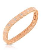 Princess 18K Rose Gold Narrow Diamond Bangle
