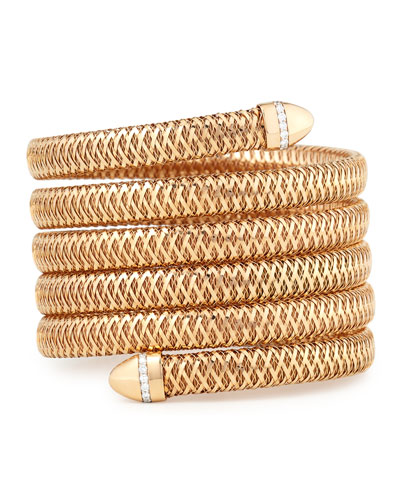 Primavera 18K Rose Gold Diamond Coil Bracelet