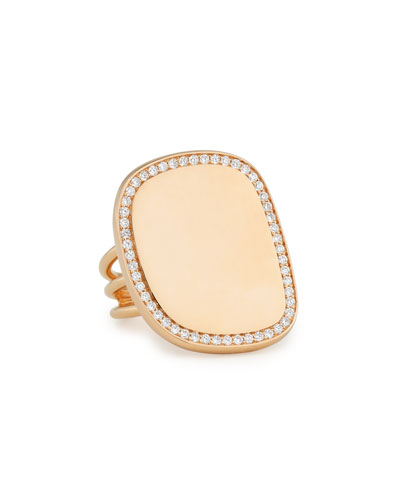 Golden Jade 18K Rose Gold & Pavé Diamond Ring